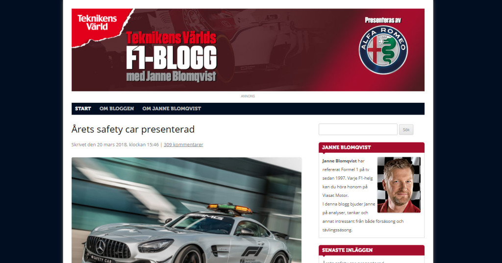 F1-bloggen facelift 2018