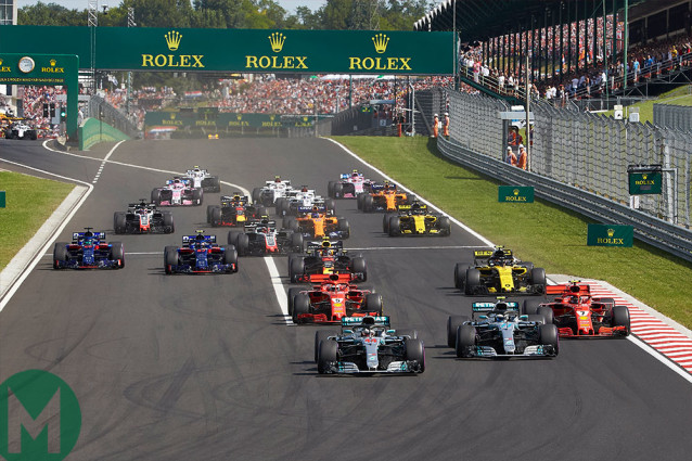 Two Mercedes at the front in Budapest last year, same story this time around?