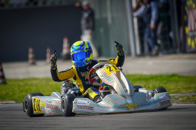 Dino Beganovic i karting för Ward Racing