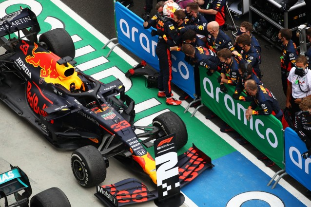 Max Verstappen had a lot to thank his mecanics of to bring the car home in second